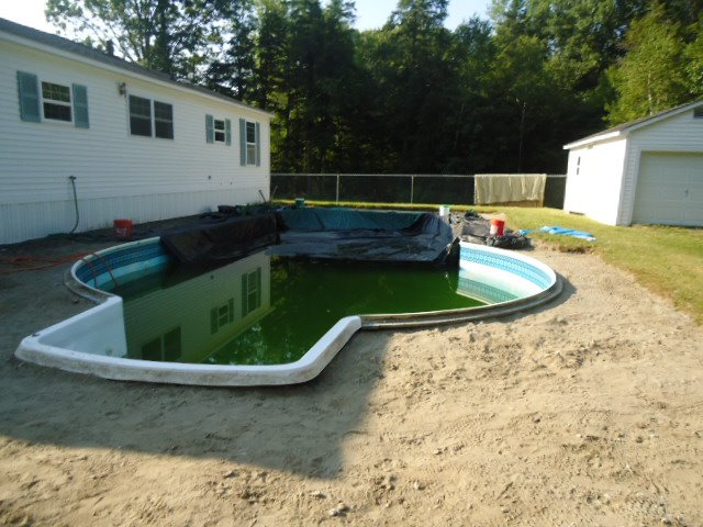 Getting the pool ready for renovation